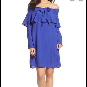 NWT 19 cooper cobalt shift cold shoulder dress med